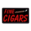 """Fine Cigars 13"""" x 24"""" Simulated Neon Sign  - Custom Simulated Neon Sign.  13"""" x 24"""" Ready Made Title Light Box Fine Cigars"""