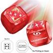 Light Up Dice - Red - Red LED - Light up dice, red, red LED.