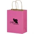 "Breast Cancer Awareness Pink Matte Shopper Bag - Foil Stamp - Breast Cancer Awareness Pink Matte Color Paper Shopping Bags (8""x4.75""x10.5"") - Foil Stamp"