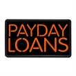"Payday Loans 13"" x 24"" Simulated Neon Sign - Custom Simulated Neon Sign.  13"" x 24"" Ready Made Title Light Box Payday Loans"