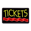 "Tickets 13"" x 24"" Simulated Neon Sign - Custom Simulated Neon Sign.  13"" x 24"" Ready Made Title Light Box Tickets"