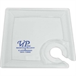 """8.25"""" Clear Plastic Square Cocktail Plate - Clear plastic square cocktail plate. BPA free."""