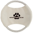 Toss N Chew Dog Disc - Khaki colored toss and chew dog disc with tan rope.