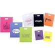 Frosted Die Cuts - 3 mil high-density frosted bag with die cut handles.