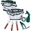 7 Piece Garden Set - Garden tool set with seven pieces in a multipurpose nylon gardening bag