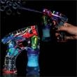 "Automatic Lighted Glow Bubble Gun - Automatic lighted bubble gun, 5 1/2""."