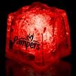 "Red 1 3/8"" Premium Light-Up Glow Cube - Red 1 3/8"" premium light-up ice cube."