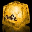 "Yellow 1 3/8"" Premium Light-Up Glow Cube - Yellow 1 3/8"" premium light-up ice cube."