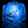 "Blue 1 3/8"" Premium Light-Up Glow Cube - Blue 1 3/8"" premium light-up ice cube."