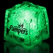 """Green 1 3/8"""" Premium Light-Up Glow Cube - Green 1 3/8"""" novelty ice cube with LED lights."""