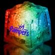 "Rainbow 1 3/8"" Premium Light-Up Glow Cube - Rainbow 1 3/8"" premium light-up ice cube."
