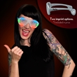 Promotional light up slotted sunglasses - Promotional light up slotted sunglasses.