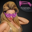 Promotional light up slotted sunglasses - Hip hop celebrity style slotted light up glasses with custom imprinting, 5 days.