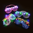 "Light Up Glasses - Light up glasses, unique ""Happy New Year"" shutter glasses with slots."