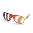 Rainbow Slotted Sunglasses - Rainbow slotted sunglasses without lenses. Available while supplies last.