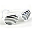 Slotted Lens Sunglasses - White slotted sunglasses with lenses.