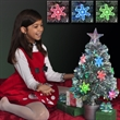 LED Christmas tree decoration with color changing lights