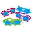 Star Sunglasses - Star sunglasses with blue lenses.