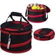 Collapsible Party Tub - 24 Can - Collapsible picnic cooler with carry straps. Includes clip on corkscrew. 24 can. 600D Polycanvas.