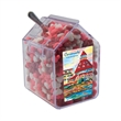Candy Bin Dispenser with Candy Hearts - Candy hearts in house shaped candy bin dispenser.
