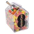 Candy Bin Dispenser with Jelly Beans - Jelly beans in house shaped candy bin dispenser.