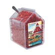 Candy Bin Dispenser with Cinnamon Red Hots Candy - Candy bin house shaped dispenser with cinnamon red hot candy.