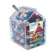 Candy Bin Dispenser with Candy Stars - Candy bin house shaped dispenser with candy stars.