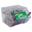 Large Candy Bin Dispenser with Chocolate Sports Balls - Large house shaped candy bin dispenser with chocolate sports balls.