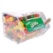 Large Candy Bin Dispenser with Jelly Beans - Large house shaped candy bin dispenser with jelly beans.