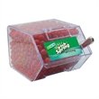 Large Candy Bin Dispenser with Cinnamon Red Hots Candy - Large house shaped candy bin dispenser with cinnamon red hots candy.