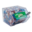 Large Candy Bin Dispenser with Candy Stars - Large house shaped candy bin dispenser with large candy stars.
