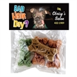 Header Bag With Dog Bone Treats - Dog bone treats, biscuit, and snacks in clear header bag.  Great pet item value.