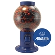 Gumball Machine Dispenser with Corporate Color Chocolates - Gumball machine dispenser with corporate color chocolate candy.