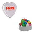 White Heart Tin with Chicle Chewing Gum - Valentines Day