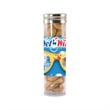 Large Gourmet Plastic Snack Tube with Cashews - Large gourmet plastic snack tube container with cashews