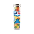 Large Gourmet Plastic Candy Tube with Jelly Beans - Large gourmet plastic candy tube container with jelly beans.