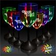 10 oz. Lighted LED Wine Glass - 10 oz Lighted wine glass with clear top and black base.