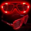 Red Light-Up LED Slotted Glasses - Red Light-up LED slotted glasses