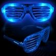 Blue Light-Up LED Slotted Glasses - Blue Light-up LED slotted glasses
