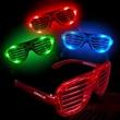 Light-Up LED Slotted Glasses - Light-up LED slotted glasses