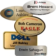 "Name Badge Aluminum Oval 3"" x 1.5"" - Custom aluminum name badge oval 3"" x 1.5"" with logo in full color."