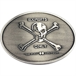 "Belt buckle - Die struck belt buckle, 2 3/8"" x 3"". Imported."