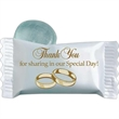 Stock Wedding Individually Wrapped Candy - Wrapped Clear Mint candy with Thank you for sharing our special day on wrapper.
