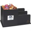 Leatherette Desk Organizer filled with Godiva Chocolates