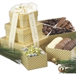 Chocolate Lovers Gift Tower w Assorted Chocolates and Nuts - Chocolate lovers gift tower.