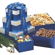 Sweet and Savory Gift Tower w Assorted Nuts and Confections - Sweet and Savory gift tower.