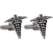 Is There a Doctor in the House? Cufflinks - Caduceus shaped design cufflinks with a swivel back closure.