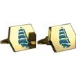 Brass Cufflinks - Custom Hexagon - Custom hexagon cufflinks with a torpedo style closure.
