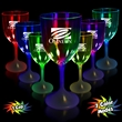 10 oz. Lighted LED Wine Glass - 10 oz lighted wine glass with clear top and white base.
