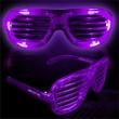 Purple Light-Up LED Slotted Glasses - Purple Light-up LED slotted glasses